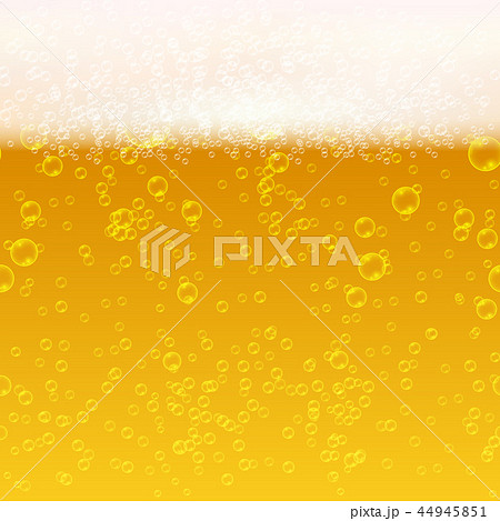 Close up light beer with foam and bubbles vector seamless background 44945851