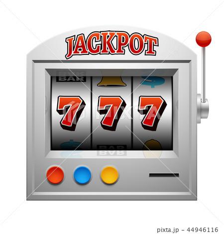 Casino slot gambling machine vector lucky and win concept 44946116