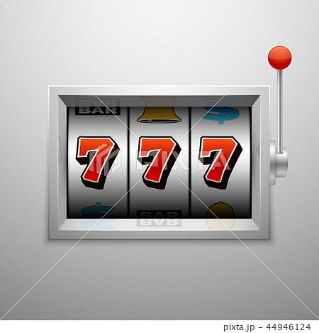 Vector slot machine with lucky seven casino jackpot win 44946124