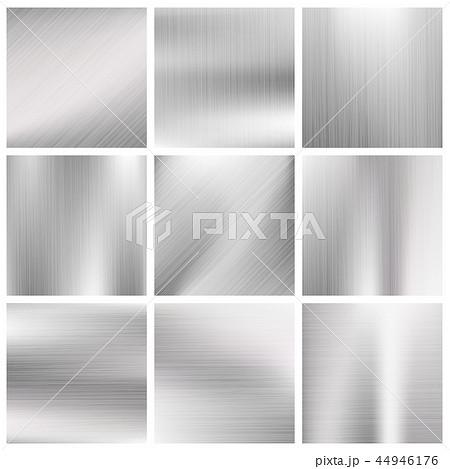 Silver, steel, titanium, aluminium metal vector brushed textures 44946176