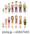 人々 人物 世代のイラスト 44947445