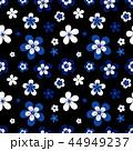 青 花 フローラルのイラスト 44949237
