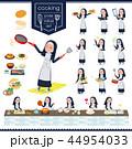 女性 シスター 料理のイラスト 44954033