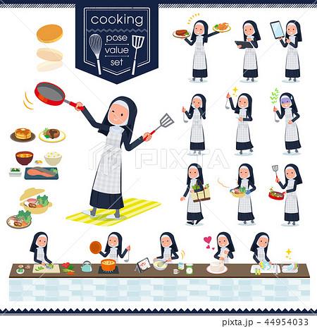 flat type Nun women_cooking 44954033