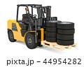フォークリフトトラック 立体 3Dのイラスト 44954282