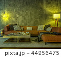 Night interior with yellow colored lights 44956475