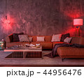 Night interior with red colored lights 44956476