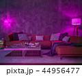Night interior with purple colored lights 44956477