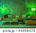 Night interior with green colored lights 44956478
