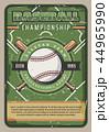 ベースボール 白球 野球のイラスト 44965990