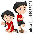 キッズ 子供 チャイニーズのイラスト 44967021