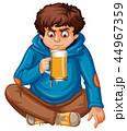 10代 ティーンエイジャー ビールのイラスト 44967359