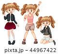 ファッション 流行 女子のイラスト 44967422