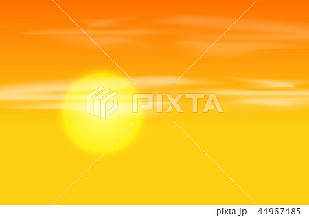 Yellow orange sunset background 44967485