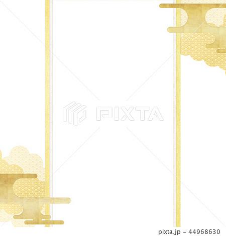 和-和柄-和風-背景-金箔-雲-霞-のし紙 44968630
