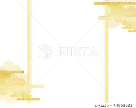 和-和柄-和風-背景-金箔-雲-霞-のし紙 44968632