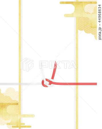 和-和柄-和風-背景-金箔-雲-霞-のし紙-水引 44968634