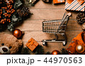 shopping cart and christmas decorations 44970563