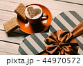 cup of coffee, cookies and gift 44970572
