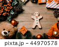 gingerbread man and christmas decorations 44970578