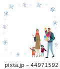 冬 家族 イラスト フレーム 44971592