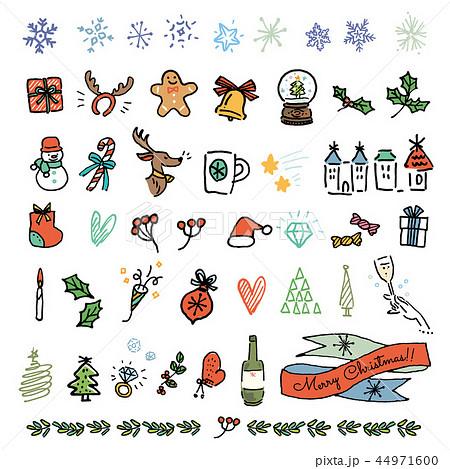 クリスマス 手描き アイコン セット 44971600