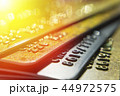 Gold and platinum credit cards close up 44972575