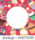 カップケーキ バックグラウンド バックグランドのイラスト 44975505