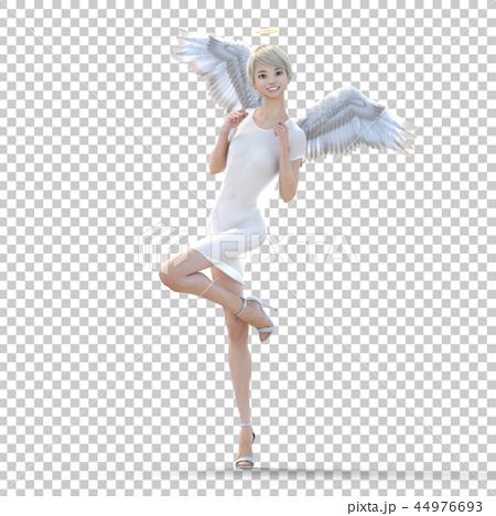 リアルな天使 perming3DCG イラスト素材 44976693