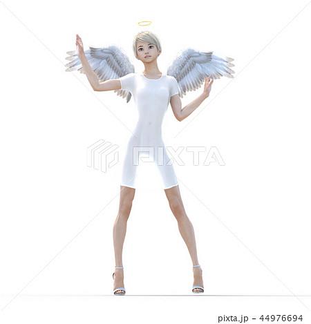 リアルな天使 perming3DCG イラスト素材 44976694