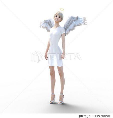リアルな天使 perming3DCG イラスト素材 44976696
