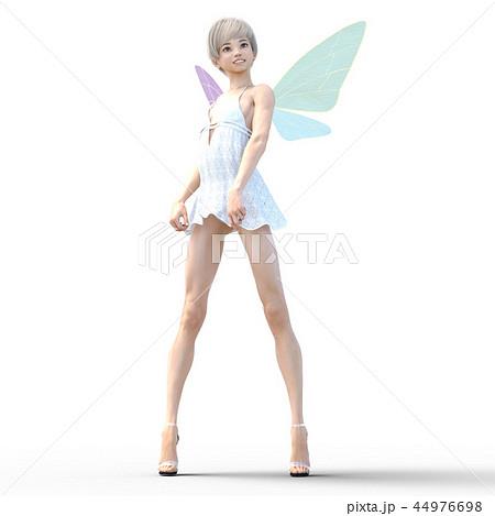 リアルな天使 perming3DCG イラスト素材 44976698