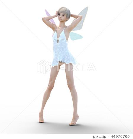 リアルな天使 perming3DCG イラスト素材 44976700