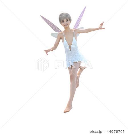 リアルな天使 perming3DCG イラスト素材 44976705