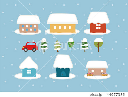 かわいい家のアイコン素材 冬 のイラスト素材