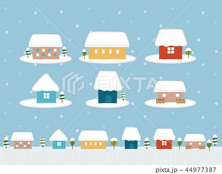 かわいい家のアイコン素材冬のイラスト素材 44977387 Pixta