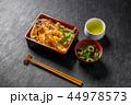 よくある天重セット Japanese foods of tempura and the rice 44978573