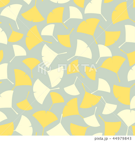 パターン イチョウ ねずみ色 グレー 44979843