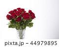花瓶に飾った赤いバラ 44979895