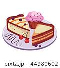 ベクトル ケーキ デザートのイラスト 44980602