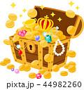 宝箱から溢れ出る宝物 44982260