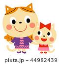 ネコの親子 44982439