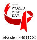 World Aids Day. Vector illustration with red ribbon 44985208