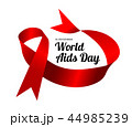 World Aids Day. Vector illustration with red ribbon 44985239