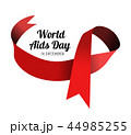 World Aids Day. Vector illustration with red ribbon 44985255