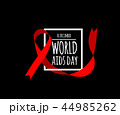 World Aids Day. Vector illustration with red ribbon 44985262
