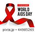 World Aids Day. Vector illustration with red ribbon 44985265