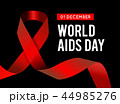 World Aids Day. Vector illustration with red ribbon 44985276
