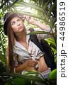 女 女性 ヤシの写真 44986519