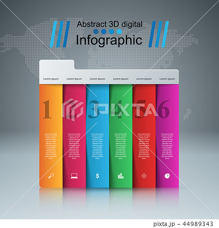 Business Infographics origami style Vector illustration. 44989343